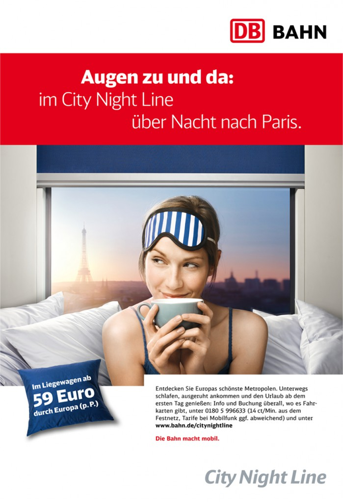 City Night Line Anzeige